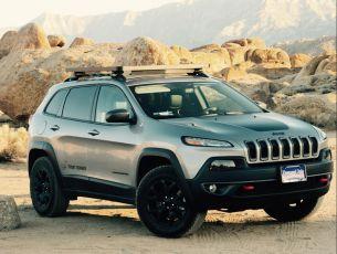 Jeep Cherokee (KL) Front Runner Slimline II Roof Rack 1255mm(W) x 1358mm(L) Rack Kit / Strap-On Feet