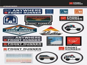 Find Anywhere Sticker Sheet - by Front Runner
