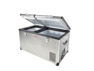 96L Stainless Steel Fridge/Freezer / Low Profile - by SnoMaster