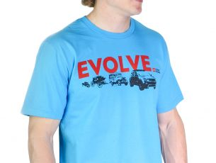 Evolve T-Shirt / Jeep Grand Cherokee / Turquoise - by Front Runner