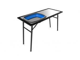 Pro Stainless Steel Prep Table with Foldaway Basin