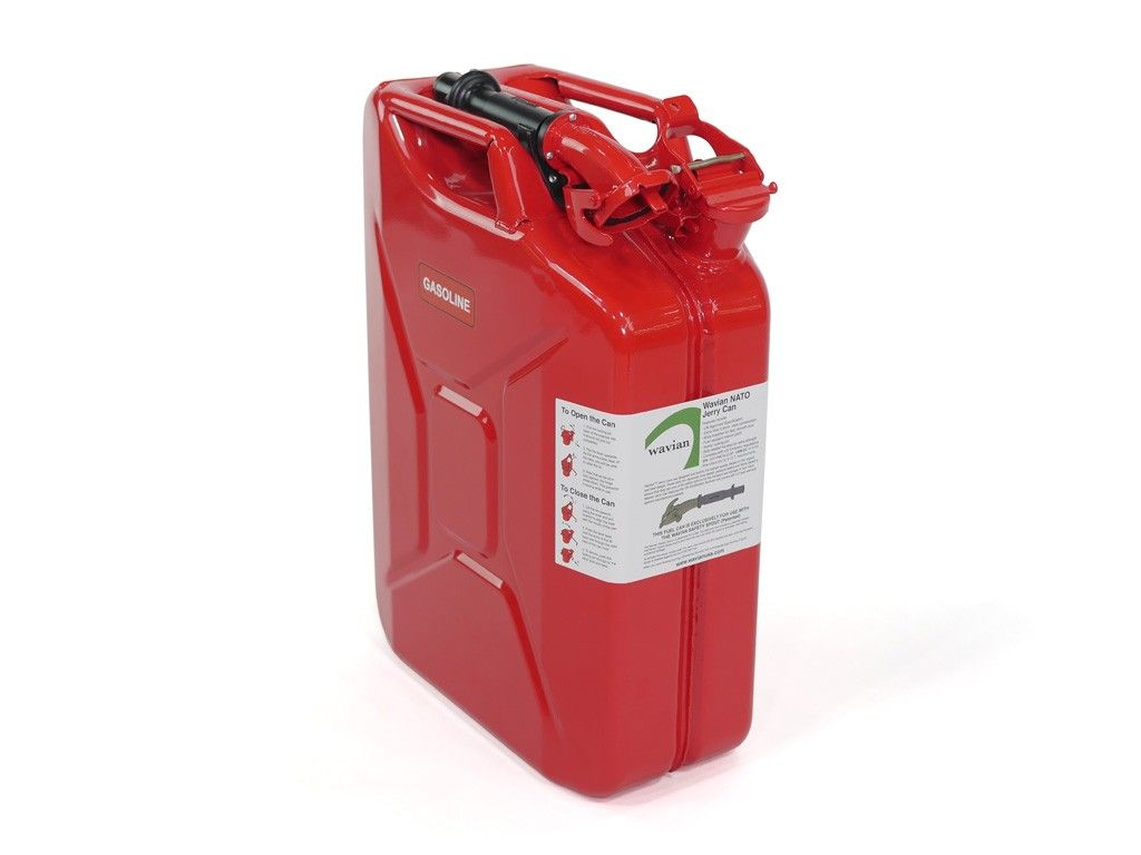 UN Certified Jerry Can 20L with Filler Tube Included