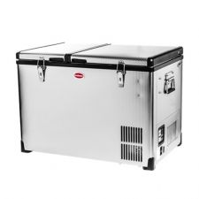 56L Stainless Steel Dual Fridge/Freezer Double Door - by SnoMaster