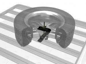 Reserverad-Halterung für den Slimline II Dachträger / Flaches Profil - von Front Runner
