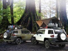 Toyota FJ Cruiser Roof Rack (Half Cargo Rack Foot Rail Mount) - Front Runner Slimline II