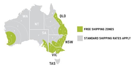 Front Runner Australia Free Shipping Zones