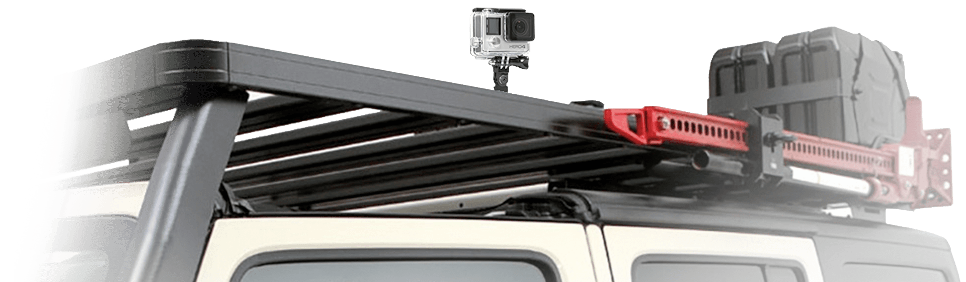 Jeep Roof Rack and Gopro Mounting Bracket by Front Runner