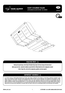Installation instructions for SGMP003