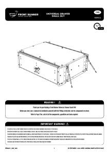 Installation instructions for SSDR011