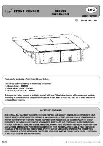Installation instructions for SSFR001