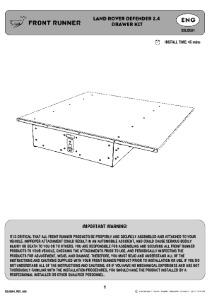 Installation instructions for SSLD001