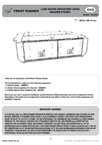 Installation instructions for SSLD004