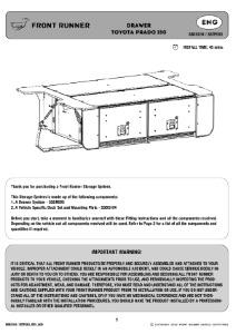 Installation instructions for SSTP003