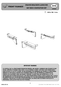 Installation instructions for SSWS003