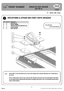 Installation instructions for FASG002