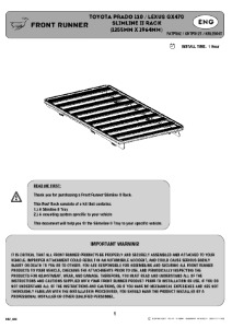 Installation instructions for FATP002