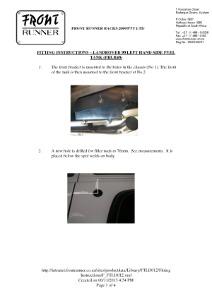 Installation instructions for FTLD012