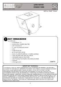 Installation instructions for FTLD027