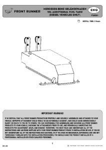 Installation instructions for FTMG001