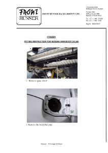 Installation instructions for FTND001