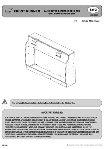 Installation instructions for GWLD008