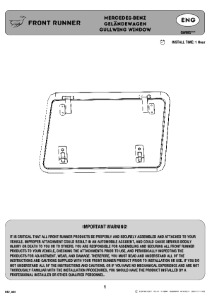 Installation instructions for GWMG101