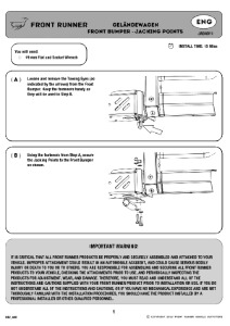 Installation instructions for JADA011