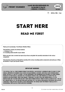 Installation instructions for KRLD007L