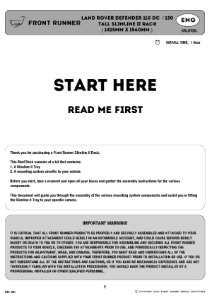 Installation instructions for KRLDT05L