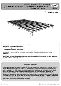 Installation instructions for KRTQ005L