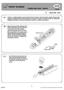Installation instructions for RAIL005