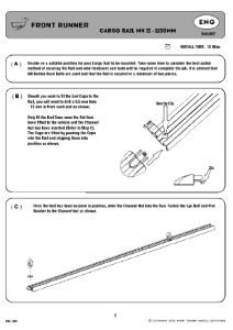 Installation instructions for RAIL007
