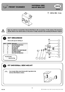 Installation instructions for RRAC031