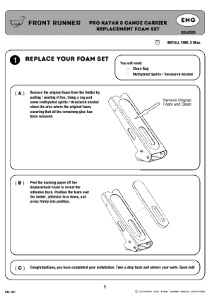 Installation instructions for RRAC076