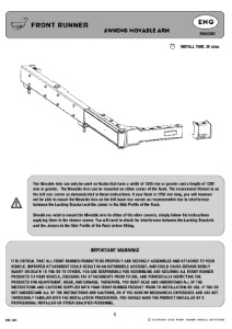 Installation instructions for RRAC080