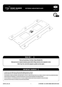 Installation instructions for RRAC105