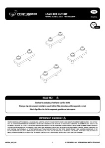 Installation instructions for RRAC901