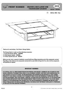 Installation instructions for SWVA001