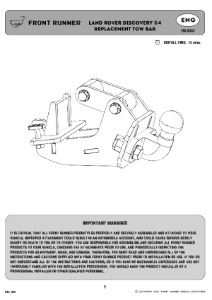 Installation instructions for TBLD003