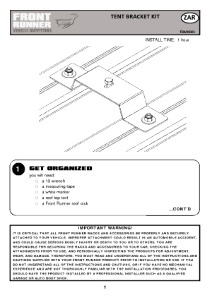 Installation instructions for TBMK001