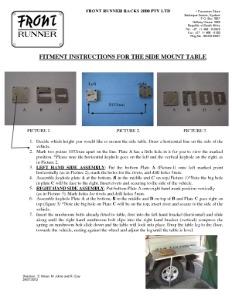 Installation instructions for TBRA006