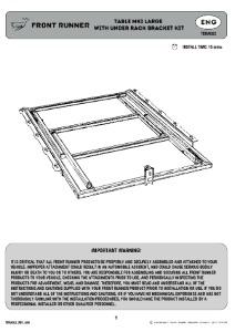 Installation instructions for TBRA022