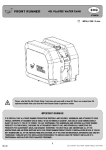 Installation instructions for WTAN030