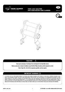 Installation instructions for RRAC119