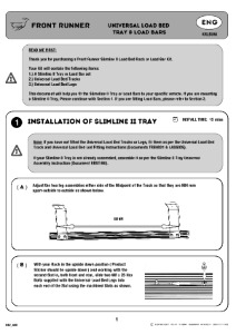 Installation instructions for KRLB001T