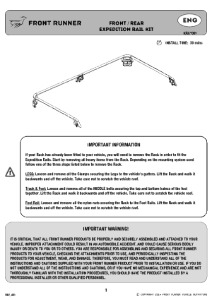 Installation instructions for KRXX001