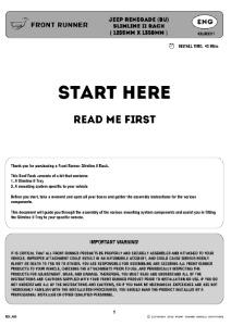 Installation instructions for KRJR001T