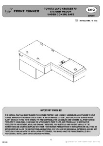 Installation instructions for SAFE009