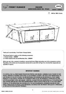 Installation instructions for SSMM001