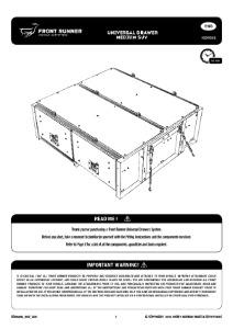 Toyota Prado 120/Lexus GX470 Drawer Kit - by Front Runner
